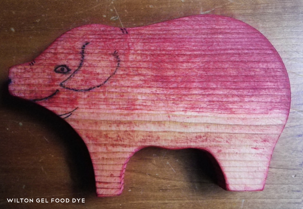 Food and Other Dyes - Paint Wooden Toys for Children